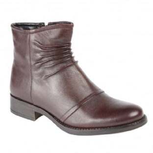 Lotus Womens Bannock Bordo Leather Ankle Boots